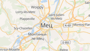 Мец - детальная карта