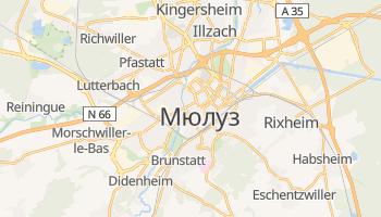 Мюлуз - детальная карта