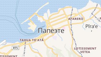 Папеэте - детальная карта