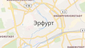 Эрфурт - детальная карта