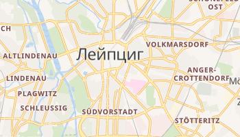 Лейпциг - детальная карта