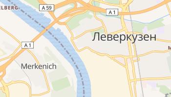 Леверкузен - детальная карта