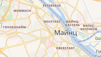 Майнц - детальная карта