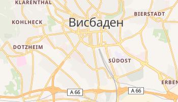 Висбаден - детальная карта