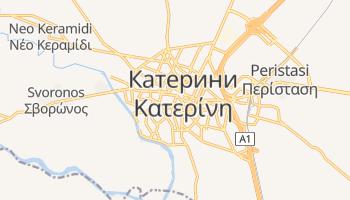 Катерини - детальная карта