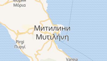 Митилини - детальная карта