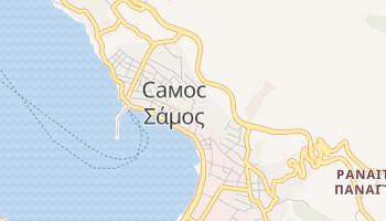 Самос - детальная карта