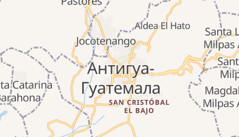 Антигуа - детальная карта