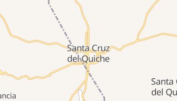 Санта-Крус-дель-Киче - детальная карта