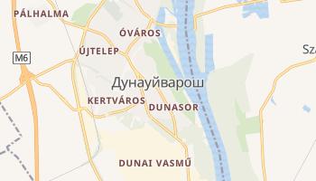 Дунауйварош - детальная карта