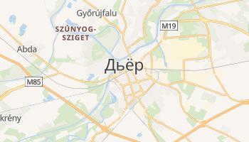 Дьёр - детальная карта
