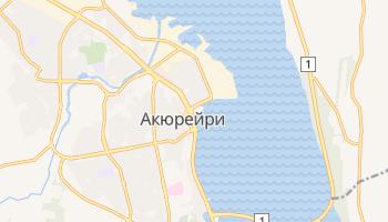 Акюрейри - детальная карта
