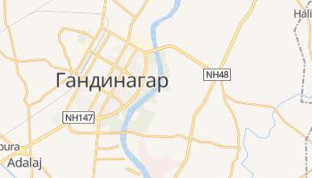 Гандинагар - детальная карта