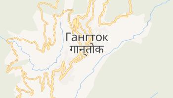 Гангток - детальная карта