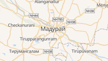 Мадурай - детальная карта