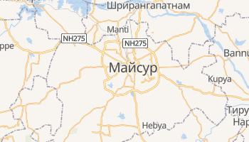 Майсур - детальная карта