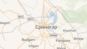 Шринагар - детальная карта