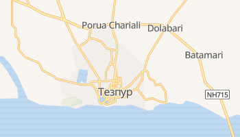 Тезпур - детальная карта