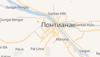 Понтианак - детальная карта