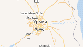 Урмия - детальная карта