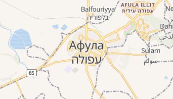 Афула - детальная карта