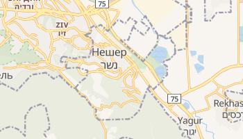 Нешер - детальная карта