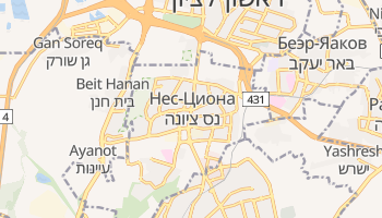 Нес-Циона - детальная карта