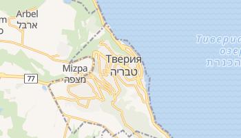 Тверия - детальная карта