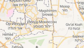 Йехуд - детальная карта