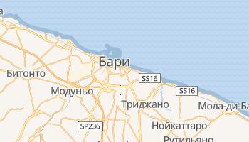 Бари - детальная карта