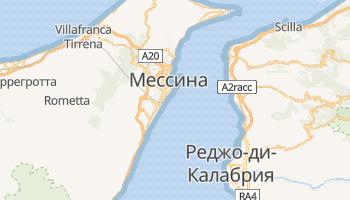 Мессина - детальная карта