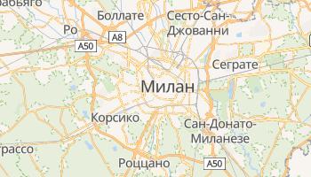 Милан - детальная карта
