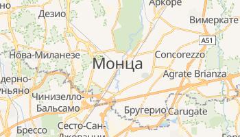 Монца - детальная карта