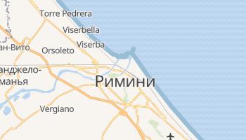 Римини - детальная карта