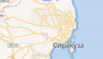 Сиракуза - детальная карта