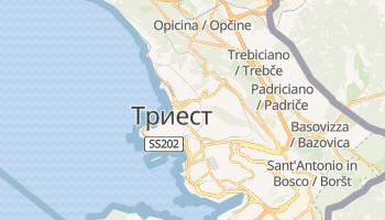 Триест - детальная карта