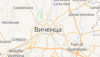 Виченца - детальная карта