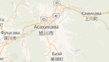 Асахикава - детальная карта