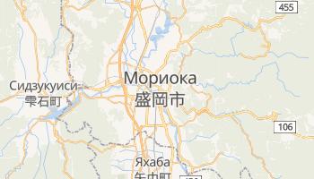 Мориока - детальная карта