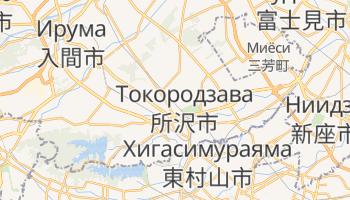 Токородзава - детальная карта