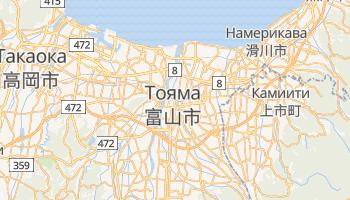 Тояма - детальная карта