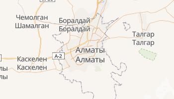 Алма-Ата - детальная карта
