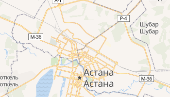 Астана - детальная карта