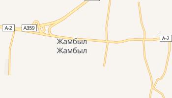 Джамбул - детальная карта