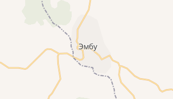 Эмбу - детальная карта