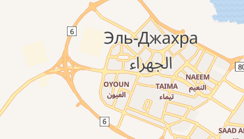 Джахра - детальная карта