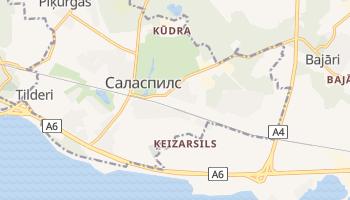 Саласпилс - детальная карта