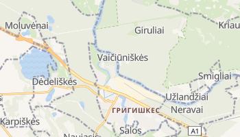 Григишкес - детальная карта