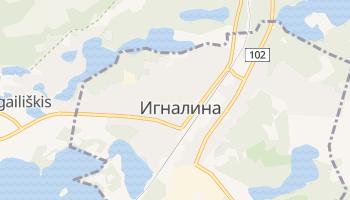 Игналина - детальная карта