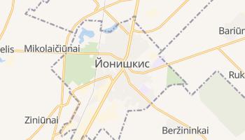 Йонишкис - детальная карта